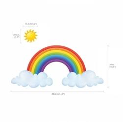 Naklejki tęcza, chmurki i słoneczko