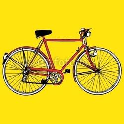 Plakat na papierze fotorealistycznym stary klasyczny motocykl rower motocykl wektor