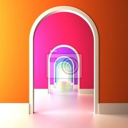 Fototapeta brama do kolorowej przyszłości.
