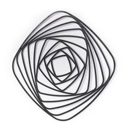 Metalowa dekoracja ścienna univers 80x1 cm czarna