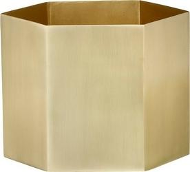Doniczka hexagon mosiądz 14 cm