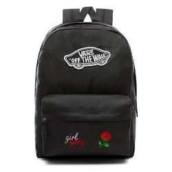 Plecak vans realm backpack custom girl gang rose róża - vn0a3ui6blk