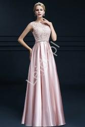Jasno różowa suknia wieczorowa na wesele, dla druhny, na studniówkę - elza