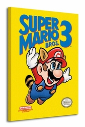 Super Mario Bros. 3 NES Cover - Obraz na płótnie