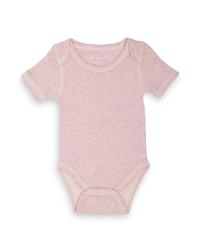 Body z krótkim rękawem - różowy melanż 0-3 m