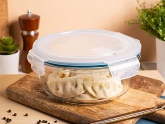 Pojemnik żaroodporny do mikrofali i piekarnika  do przechowywania z pokrywą i wentylem altom design vega okrągły 1,2 l