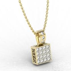Wisiorek z żółtego złota z diamentami lpw-89z-r