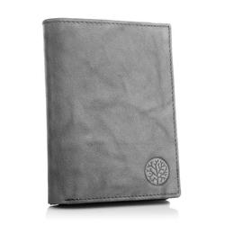 Męski skórzany portfel betlewski bpm-gtn-575 szary