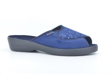 Pantofle  adanex 26729 granatowy