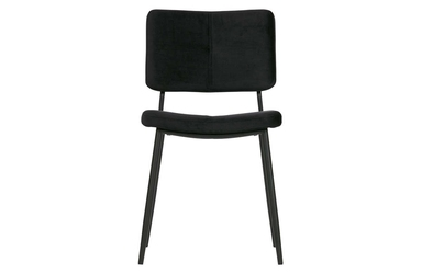 Woood zestaw 2 krzeseł kaat velvet czarne 373775-z