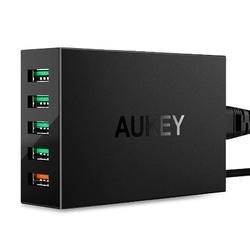 Aukey ultraszybka ładowarka sieciowa pa-t15 5xusb quick charge 3.0 10.2a 54w