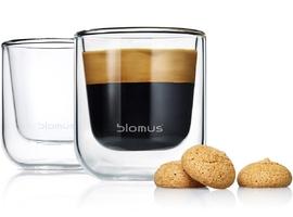 Szklanki do espresso 80ml blomus nero 2 sztuki b63652