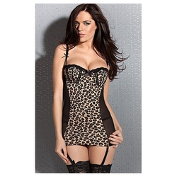 Drapieżna koszulka + stringi leopard kiss me