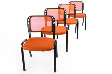 Krzesła konferencyjne pomarańczowe, 4 sztuki