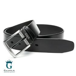 Czarny pasek skórzany casual jeans miguel bellido 4750-40-5925-13