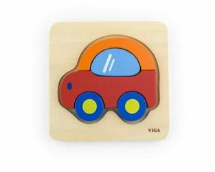 Pierwsze puzzle maluszka - Samochód, 18 m+, Viga