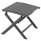 Składany stołek antracytowy aluminiowy 42x47x38 cm