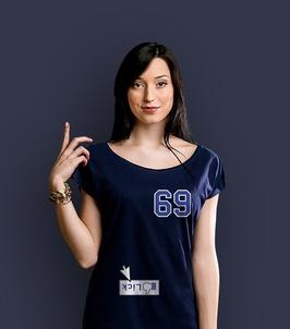 69 t-shirt damski granatowy xxl