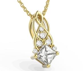 Wisiorek z żółtego złota z brylantami bpw-86z - żółte  diament