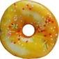 Poduszka donut pączek okrągła 40cm żółta