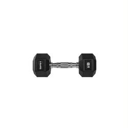 Hantla stalowa gumowana hex pro 6 kg - hms - 6 kg