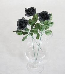 Czarna róża -  długość 55 cm, kwiat sztuczny