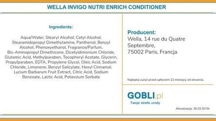 Wella invigo nutri-enrich odżywka nawilżająca do włosów 200ml