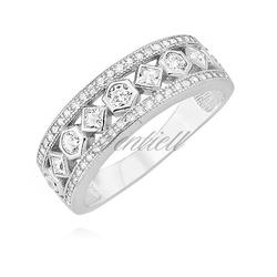Srebrny pierścionek pr.925 z cyrkoniami - biała