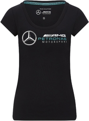 Koszulka damska mercedes amg petronas f1 czarna - czarny