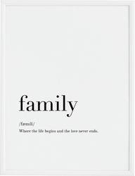 Plakat family 40 x 50 cm