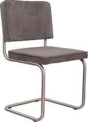 Zuiver :: krzesło tapicerowane ridge brushed szare