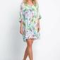 Krótka swobodna sukienka w tropikalny print