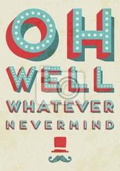 Plakat ilustracji wektorowych typografia.