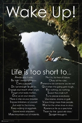 Obudź się  Życie jest za krótkie - plakat