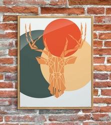 Deer colour - plakat