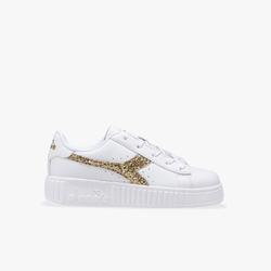 Sneakersy dziewczęce diadora game step ps - złoty