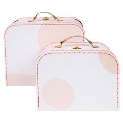 Meri meri - walizki kropki różowe