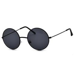 Okulary lenonki czarne przeciwsłoneczne hippie retro 4322b