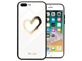 Etui alogy glass armor case do apple iphone 78 plus białe serce - serce
