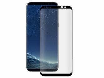Szkło hartowane 3D Alogy na cały ekran do Samsung Galaxy S8 Czarne - Czarny