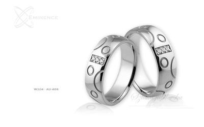 Obrączki ślubne - wzór au-468