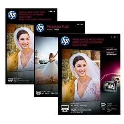 Hp premium plus glossy pho, foto papier, połysk, biały, 13x18cm, 5x7, 300 gm2, 20 szt., cr676a, atrament,do druku bez margin