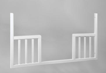 Troll Uniwersalny toddler rail - wymienny bok do łóżeczka 120x60 k. biały