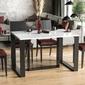 Nowoczesny rozkładany stół borys na metalowych nogach 130-290 x 80 cm biały połysk