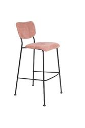 Zuiver hoker  stołek barowy benson różowy 1500083