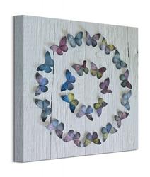 Koło z motyli - obraz na płótnie