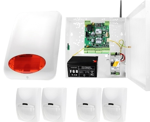 System alarmowy ropam basicgsm + 4x czujka pir+ sygnalizator