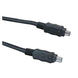 Firewire kabel ieee 1394, ieee 1394 4pin m- ieee 1394 4pin m, 2m, czarny