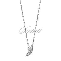 Srebrny naszyjnik pr.925 kieł z cyrkoniami