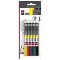 Zestaw markerów do tkanin marabu 5szt 1-2mm
